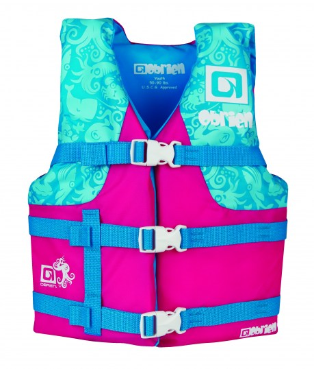 2017 GILET PRO JUNIOR FILLE ROSE